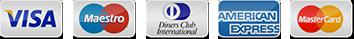 Visa - Maestro - Diners Club - American Express - Mastercard